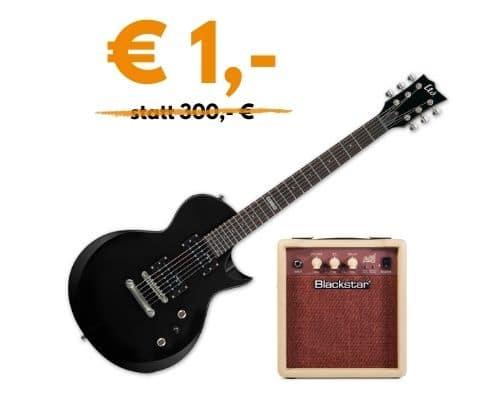 E-Gitarre LTD EC-10 + Blackstar Amp Debut 10 + Gitarrenkabel für € 1,-